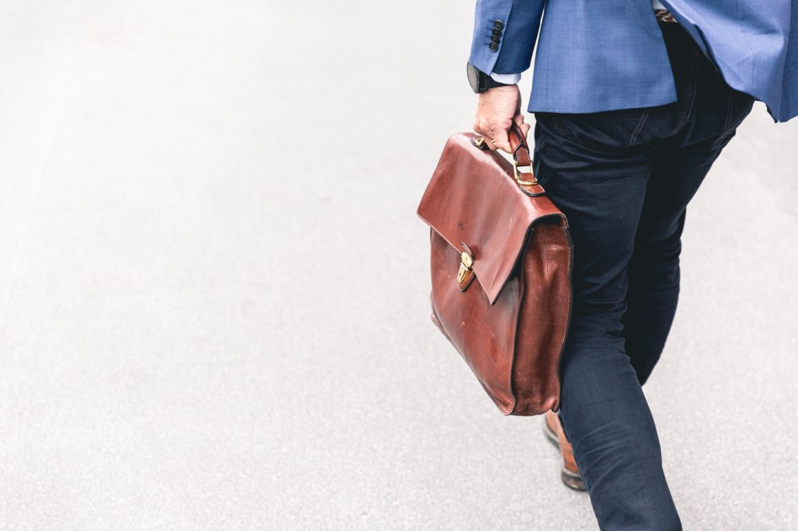 Businessman Holding a Suitcase